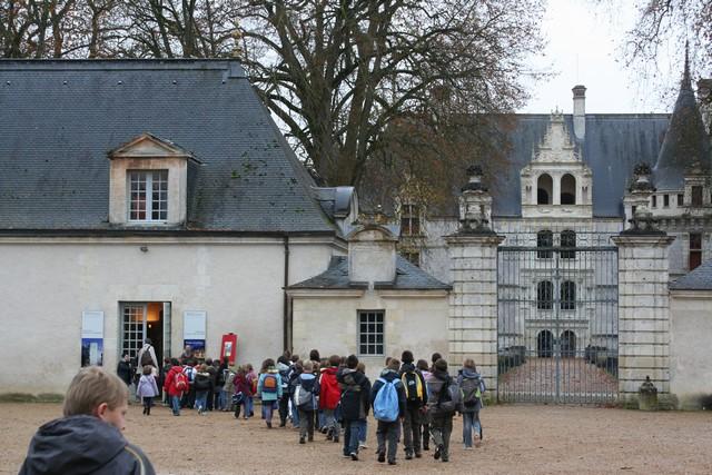 Ecole de Rouziers de Touraine - Visite du château d\'Azay-le-Rideau ...